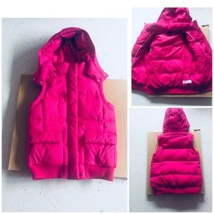 Puffy hooded vest